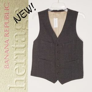 NWT! BANANA REPUBLIC Heritage collection wool vest